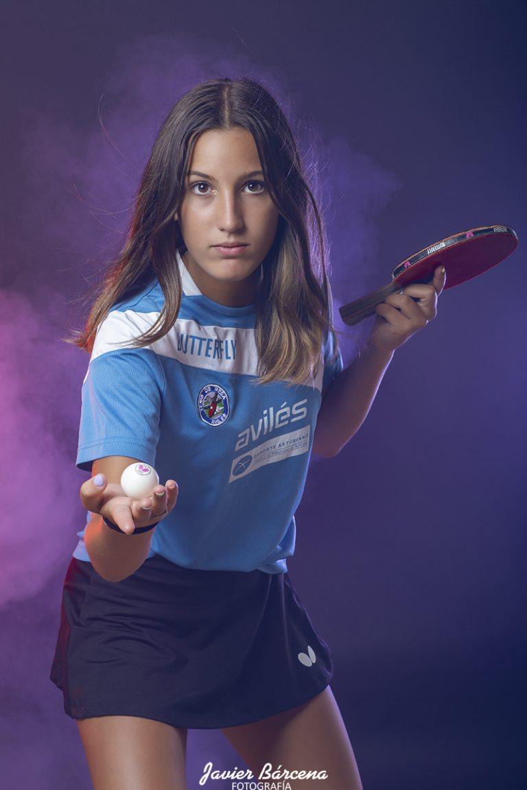 Carmen Calle . Avilés Tenis de Mesa.